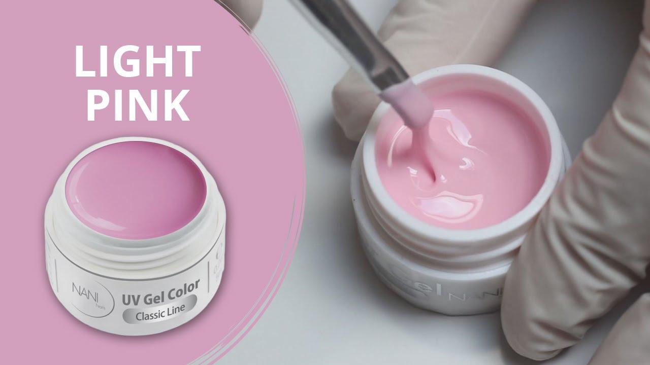 Nani Uv Gel Classic Line Light Pink 95 Youtube