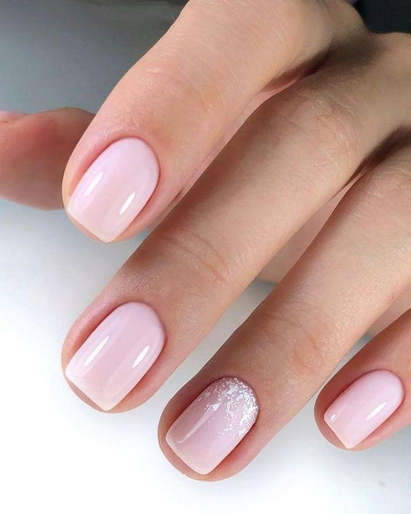 31 Simple Nail Design For Short Nail Gelove Nehty Kratke Nehty Zlate Nehty