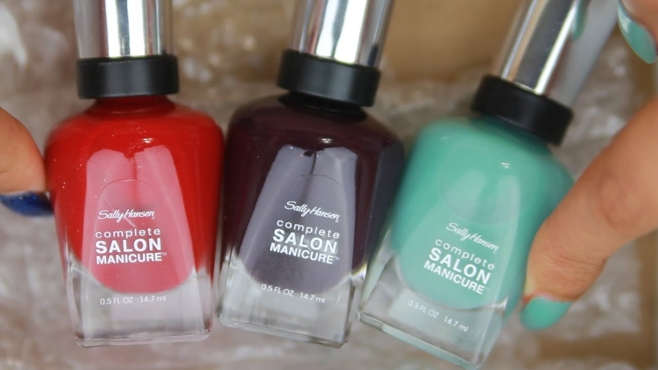 Sally Hansen Complete Salon Manicure Nail Polish Review Youtube