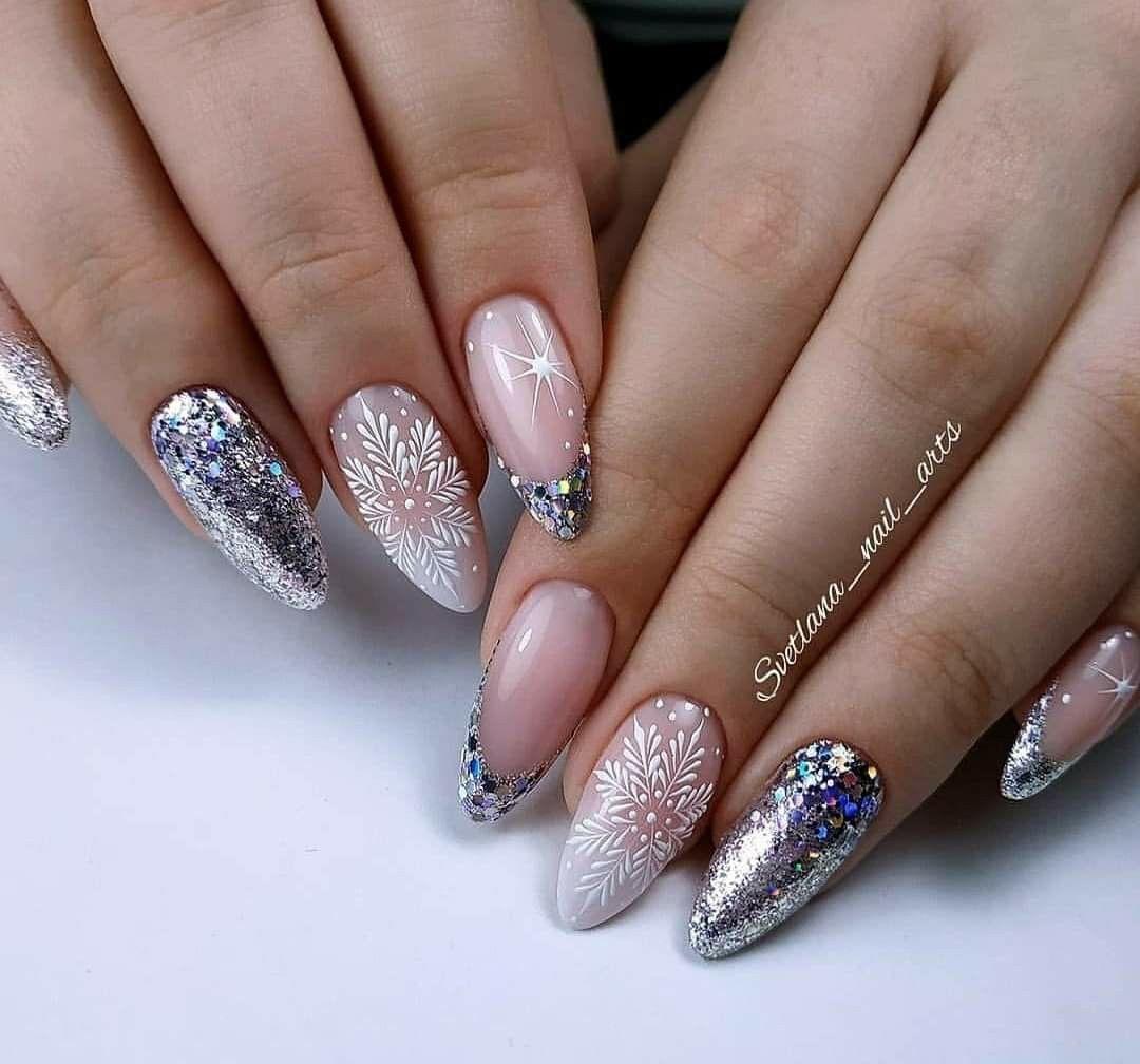 Pin By Marcela Skodova On Novogodnij Manikyur Festival Nails Christmas Nails Nail Designs