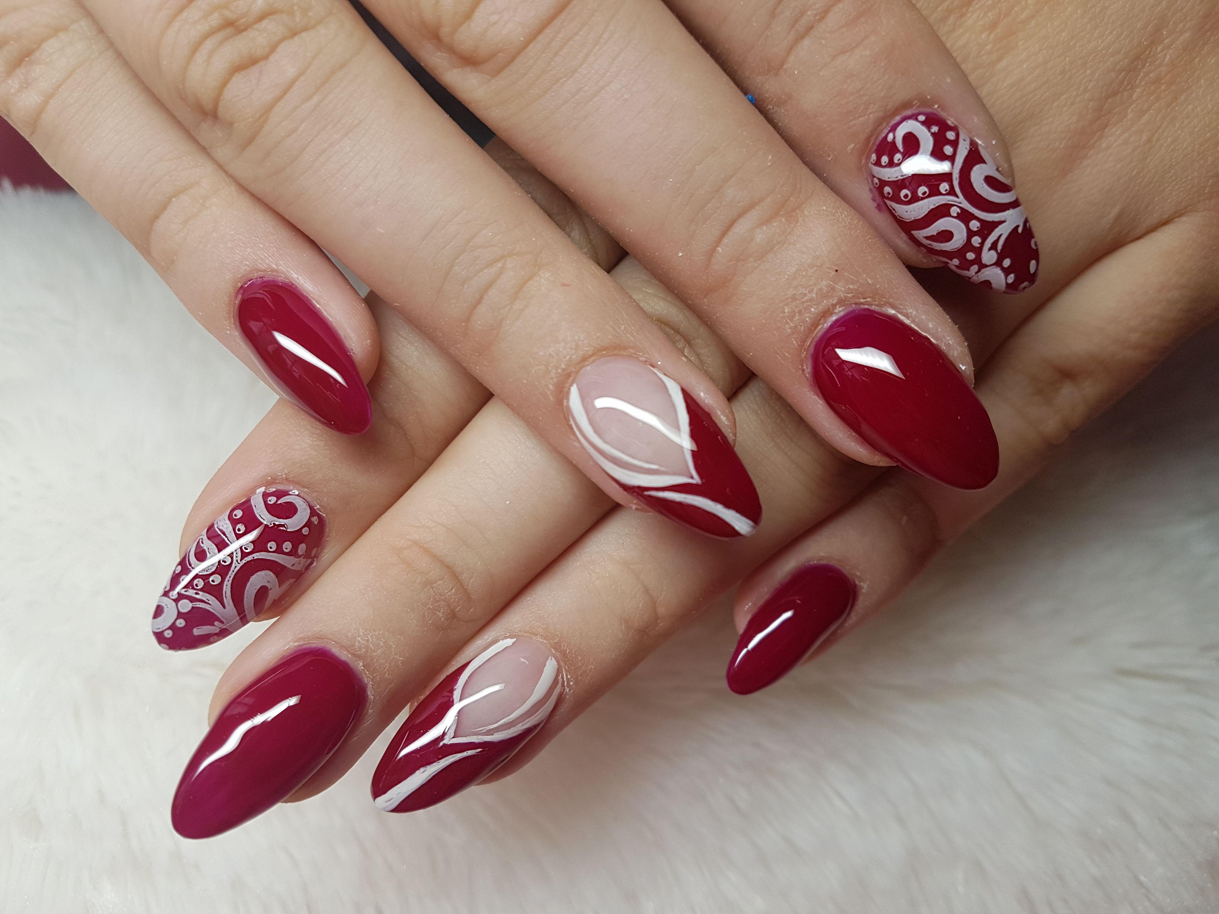 Red Nail Art Gelove Nehty Nehty Dorty