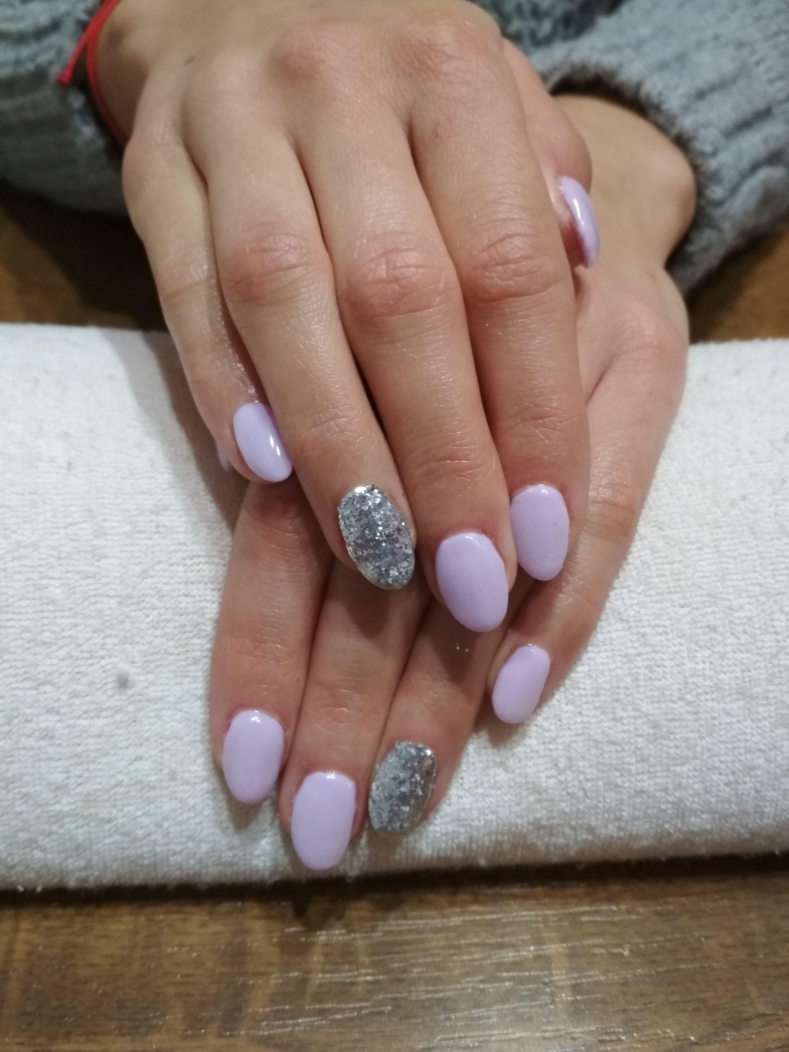 Purple Nails Purple Color Purple Gel Silver Glitter Gelove Nehty Nehty