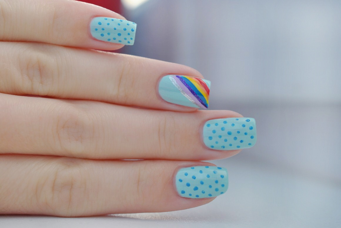 Claire Style Day 9 Rainbow Nails