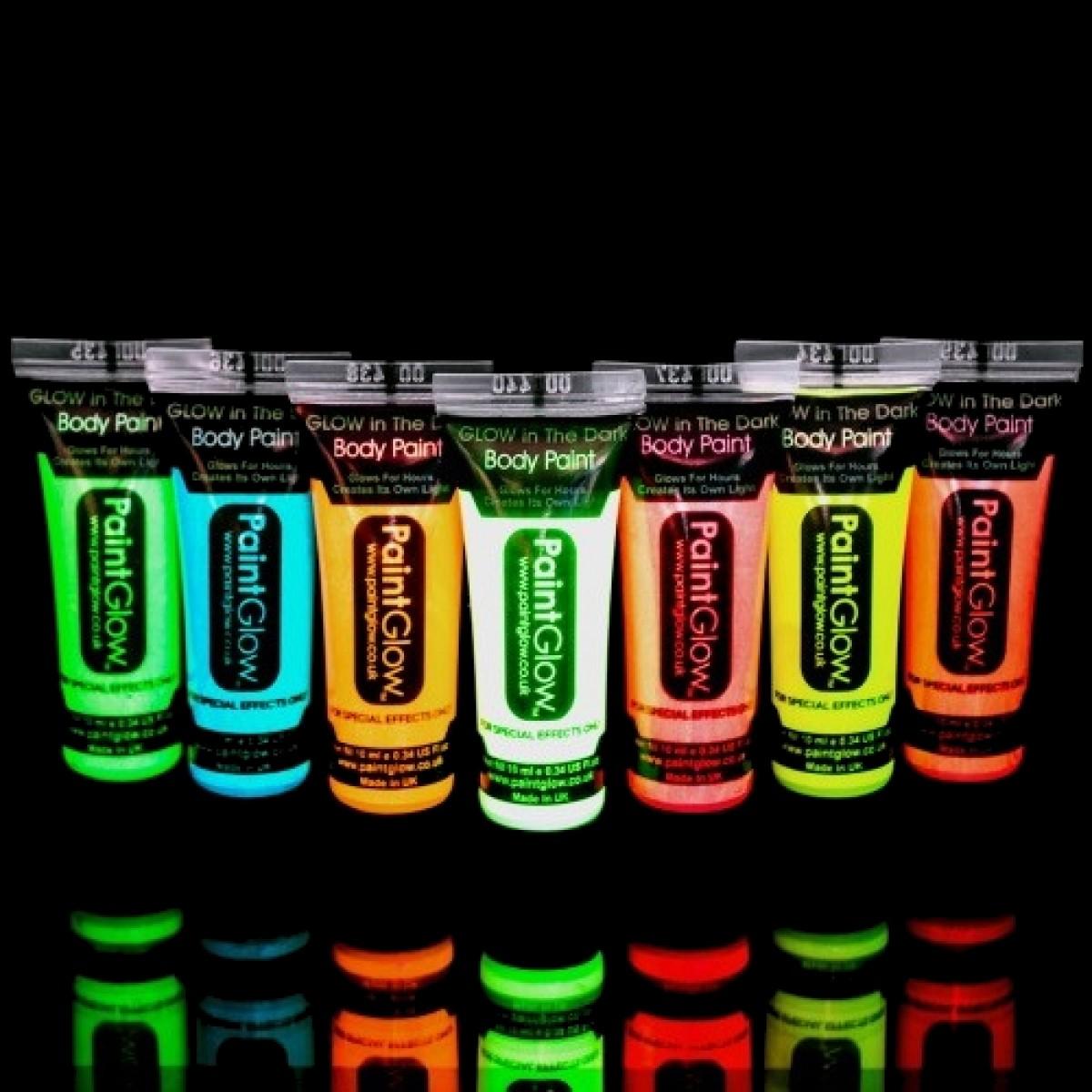 Fosforova Barva Na Telo A Oblicej 10ml Bodypainting Lightstick Cz