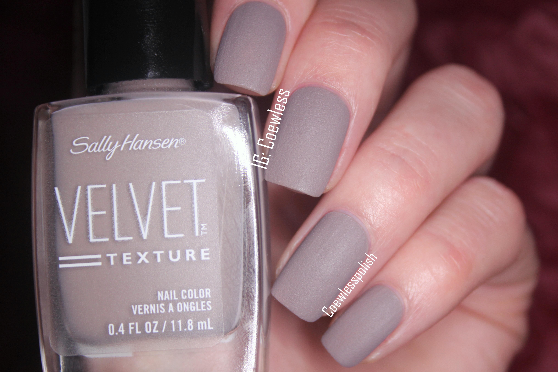 Sally Hansen Velvet Texture Swatches Review Coewless Nail Polish Blog