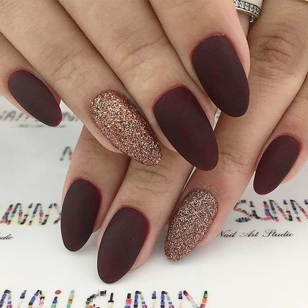 26 Simple Fall Nails Art Design For Women Over 40 Ombre Nehty Gelove Nehty Design Nehtu