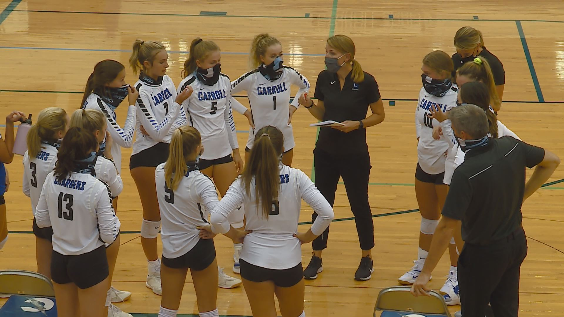 Carroll Sweeps East Noble On The Volleyball Court Wane 15