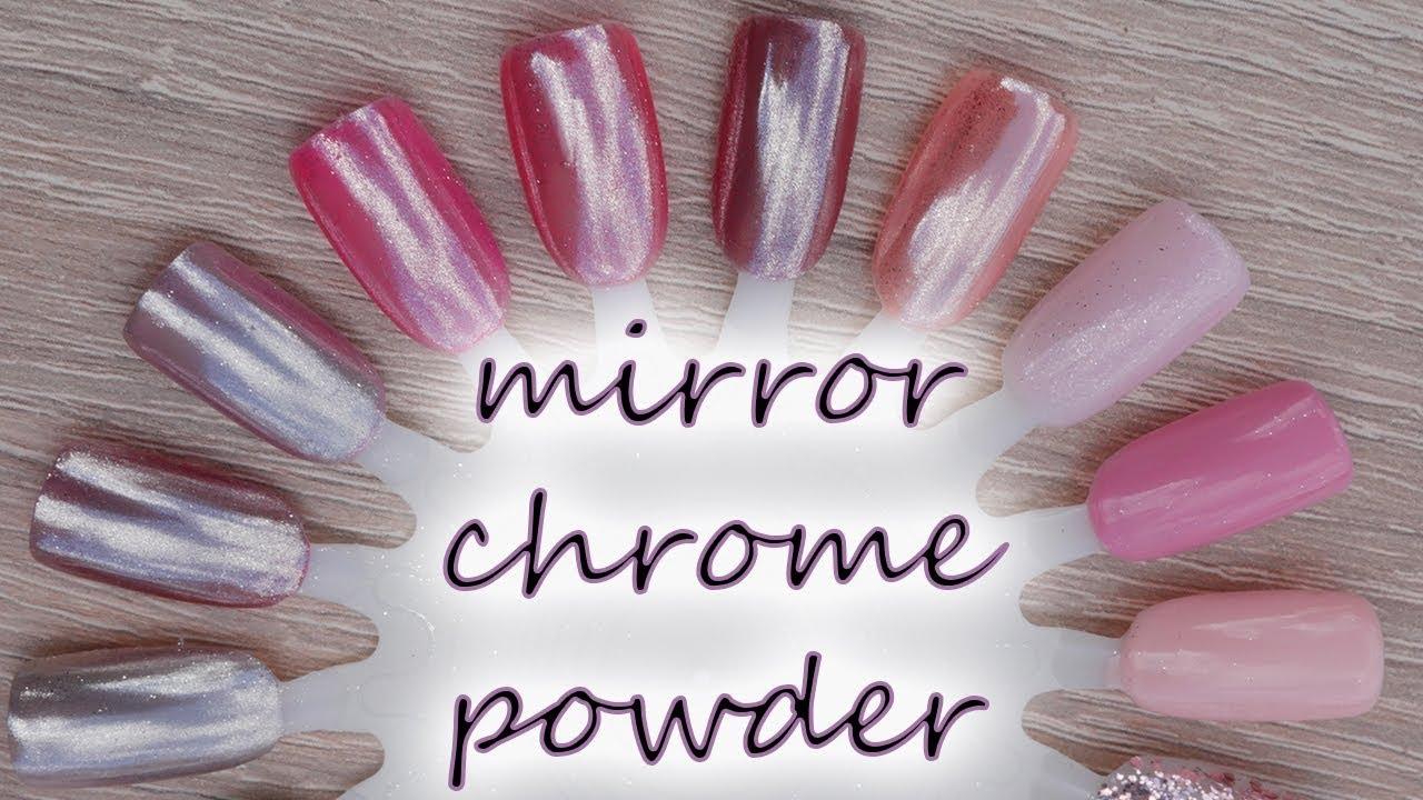 Zrcadlove Pigmenty Na Nehty Mirror Chrome Powder Youtube
