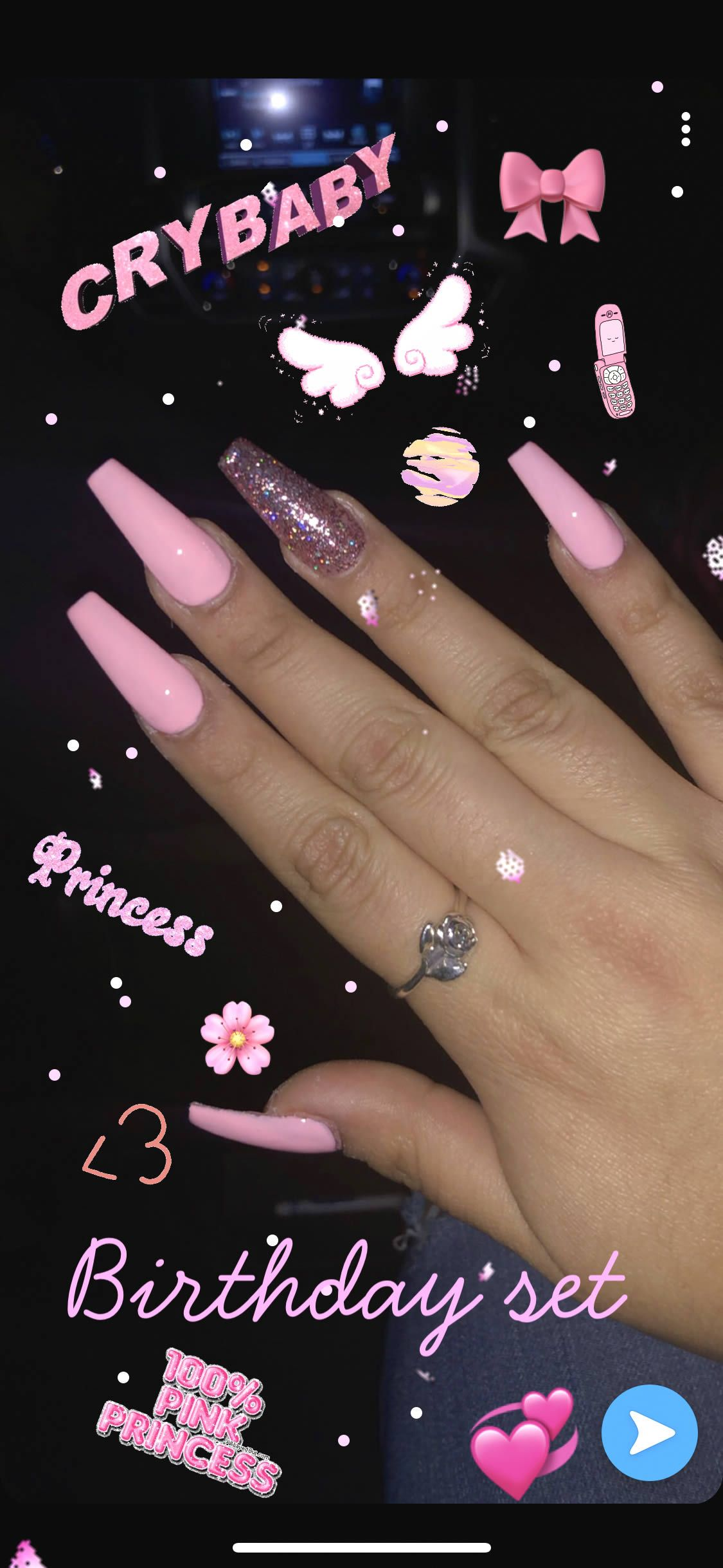 45 Beautiful Acrylic Nails Design For You Esminity In 2020 Acrylic Nails Coffin Pink Best Acrylic Nails Long Acrylic Nails