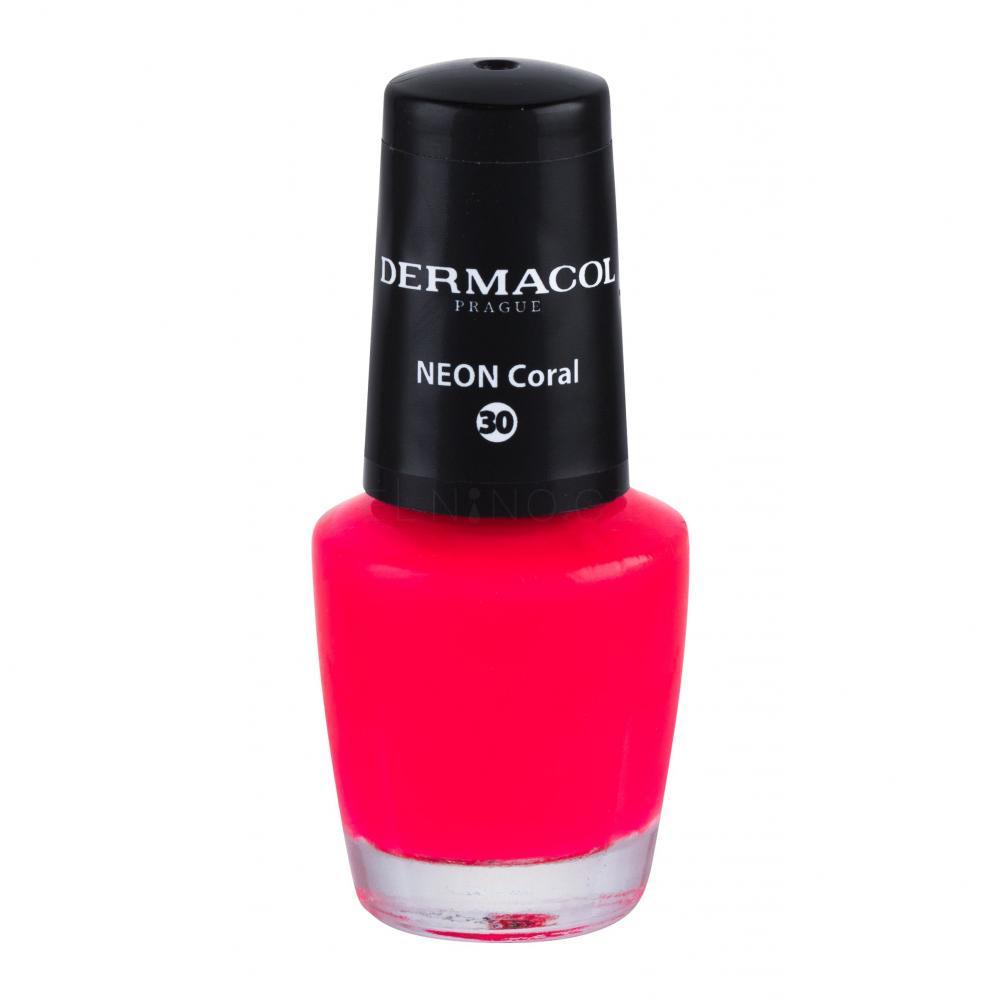 Dermacol Neon Lak Na Nehty Pro Zeny 5 Ml Odstin 30 Neon Coral Elnino Cz