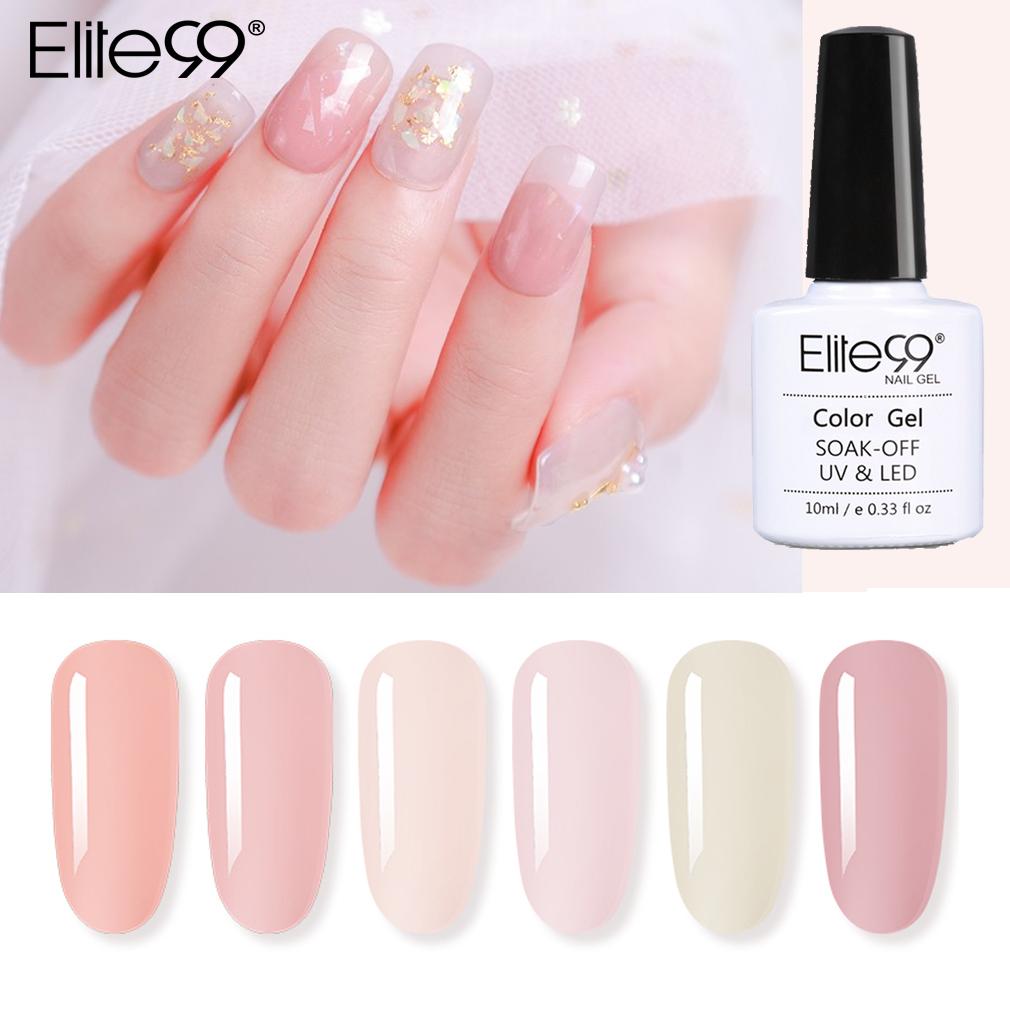 Elite99 10ml Nude Color Jelly Uv Gel Nail Polish Translucent Gel Polish Semi Permanent Nail Art Lacquer Base Top Coat Gellak Nail Gel Aliexpress