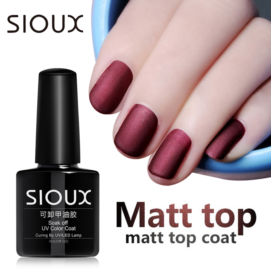 Wholesale Sioux 8ml Matop Coat Matte Uv Gel Nail Polish Uv Varnish Primer Layer Varnish Matte Polish Color Lucky Gel Lak Base Top Paint Nail Gel Kits Nail Gel Colors From Guaye