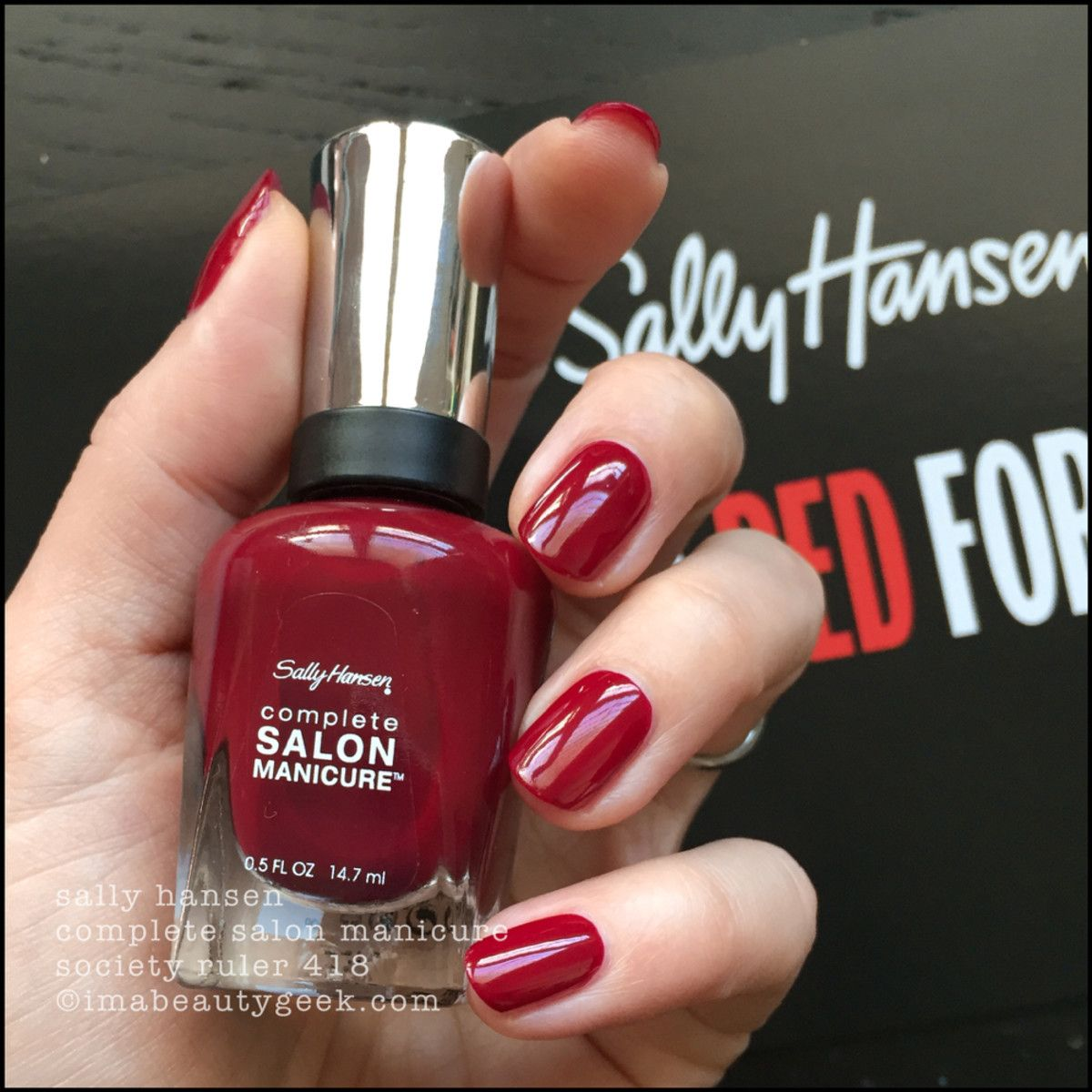 Sally Hansen Red Esign Swatches Review