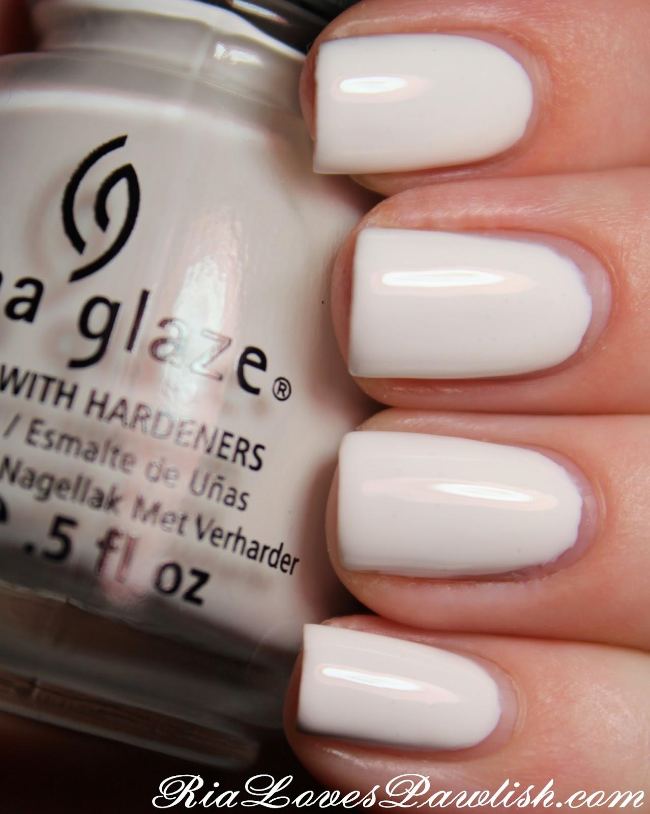 Ria Loves Pawlish China Glaze White On White