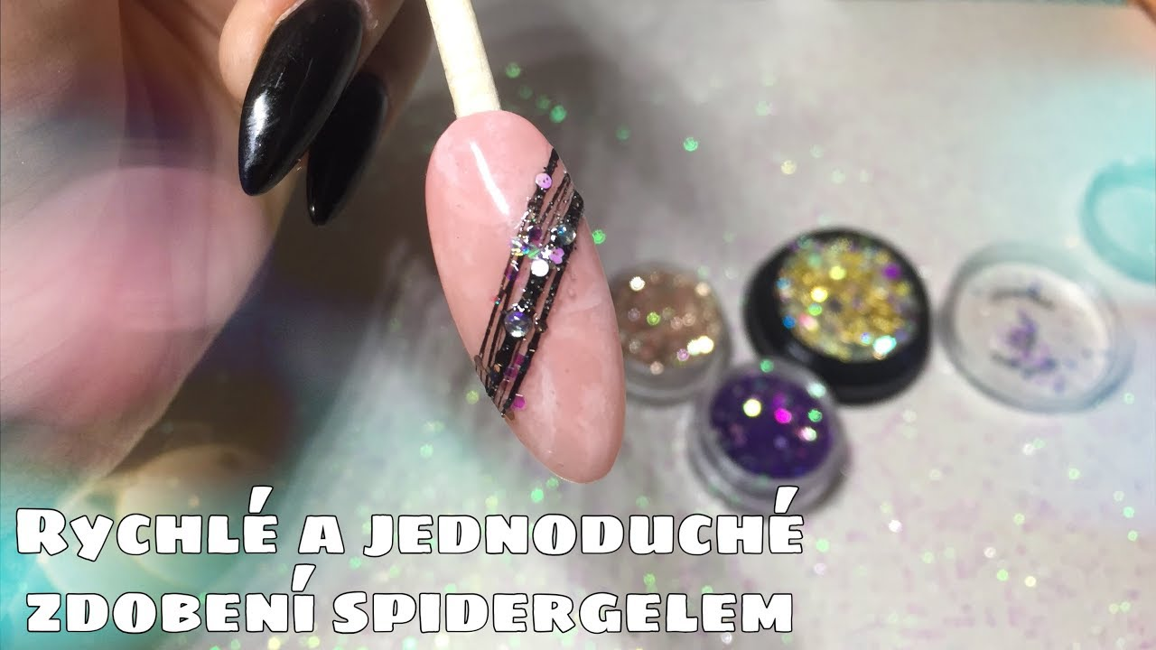 Zdobeni Nehtu Spidergelem Kaminky Trpytkami Kate Cosmetics Youtube