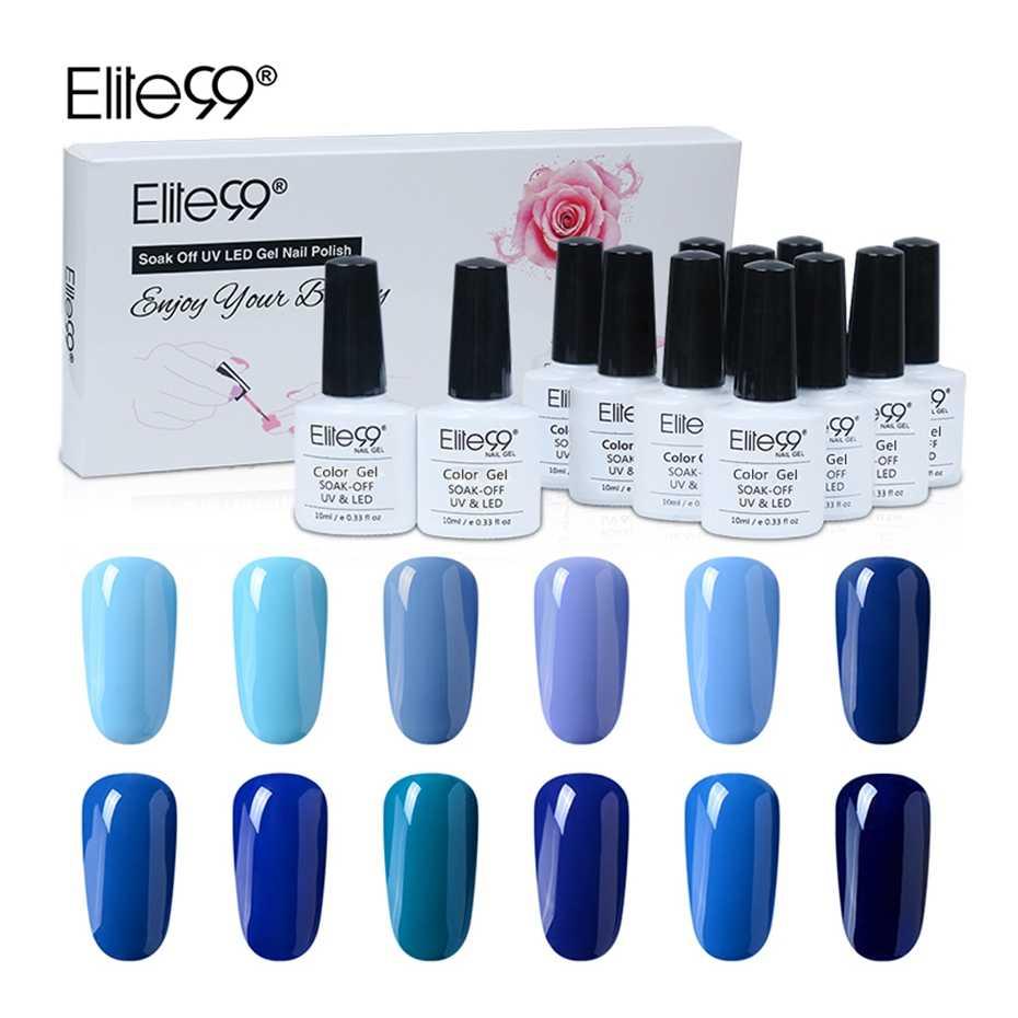 Elite99 12pcs Set Blue Color Series Gel Polish Kits 10ml Pure Color Nail Gel Lacquer Soak Off Uv Led Varnish Manicure Set Gift Elite99 Series Nail Gel Lacquergel Lacquer Aliexpress