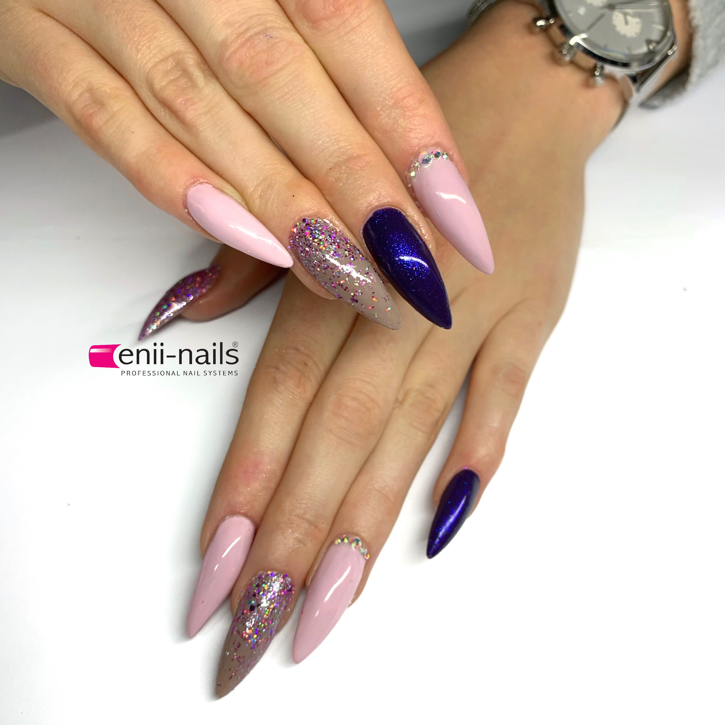 How To Make Nail Prep Super Stick Gel Lak Frozen Peony Sage And Black With Aurora Powder Top Basic Finish And Beautiful Glass S Nehet Nehty Gelove Nehty