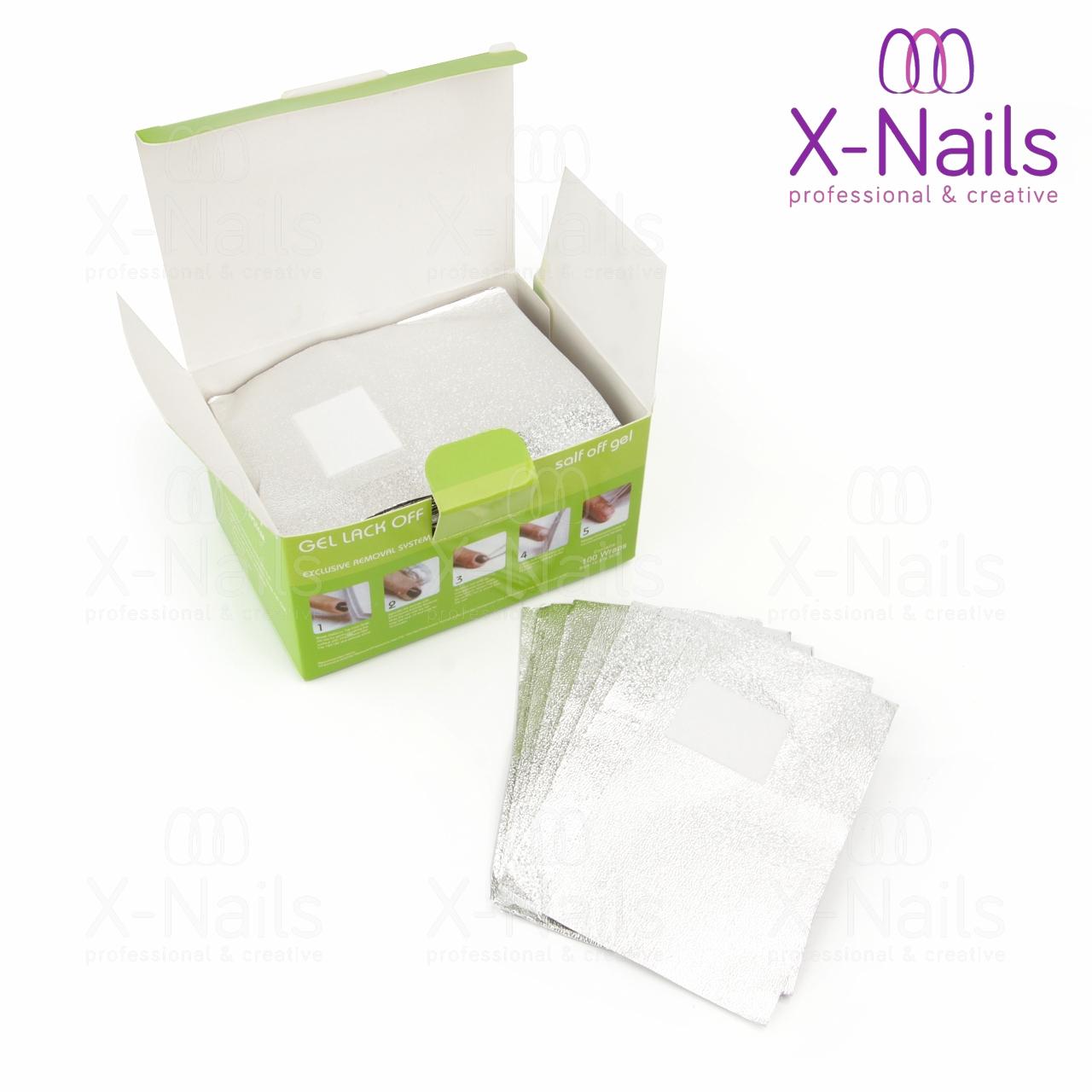 X Nails Folie Pro Odstraneni Gel Laku Gel Lak Folie 100 Ks Remover Foil X Nails Gelove Akrylove Nehty