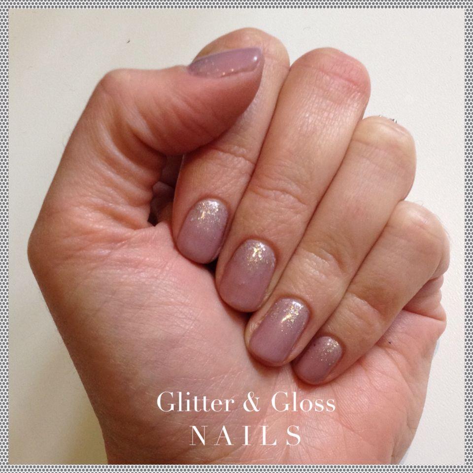 Asp Signature Gel Polish In Clay With Mystique Glitter Fade Asp Gel Polish Nails Gel Polish