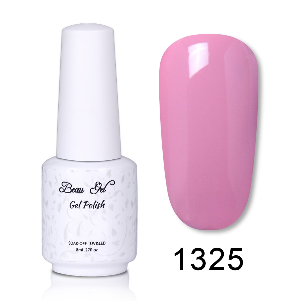 Beau Gel Hot Color Series 8ml Poltrajni Lak Za Nohte Uv Led Gel Laki Dolgo Obstojen Odtenek Vernis Ongle Pro Okrasne Nohte