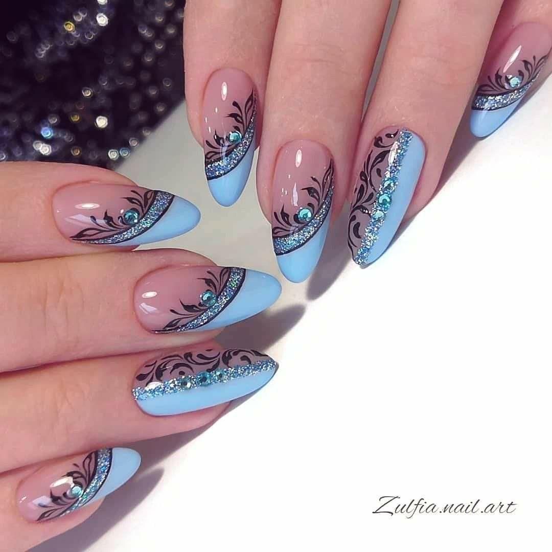 Pin By Moje Hobby On Nail Art Inspirace In 2020 Gelove Nehty Design Nehtu Akrylove Nehty