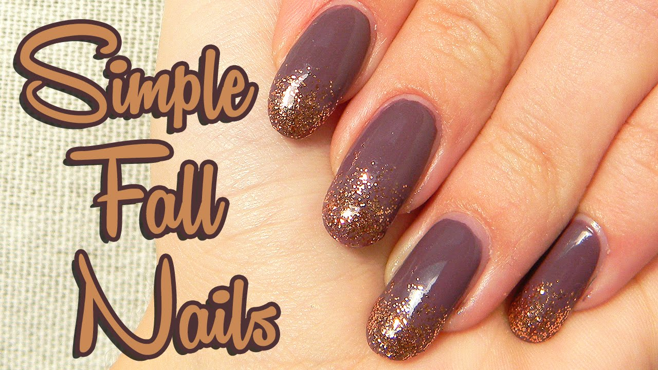 Jednoduche Jesenne Nechty Simple Fall Nails Youtube