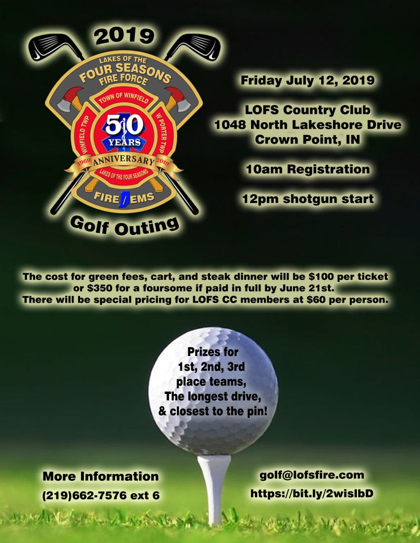 Lakes Of The Four Seasons Fire Force 2019 Golf Outing 12 Jul 2019