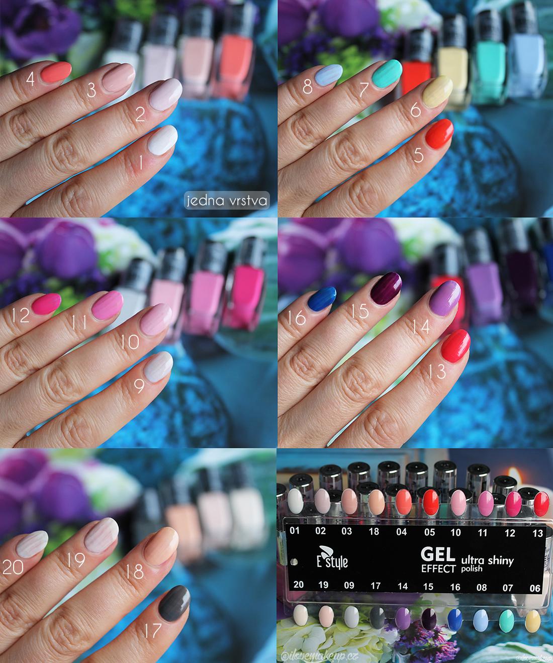 E Style Gel Effect Laky Na Nehty Ilovemakeup