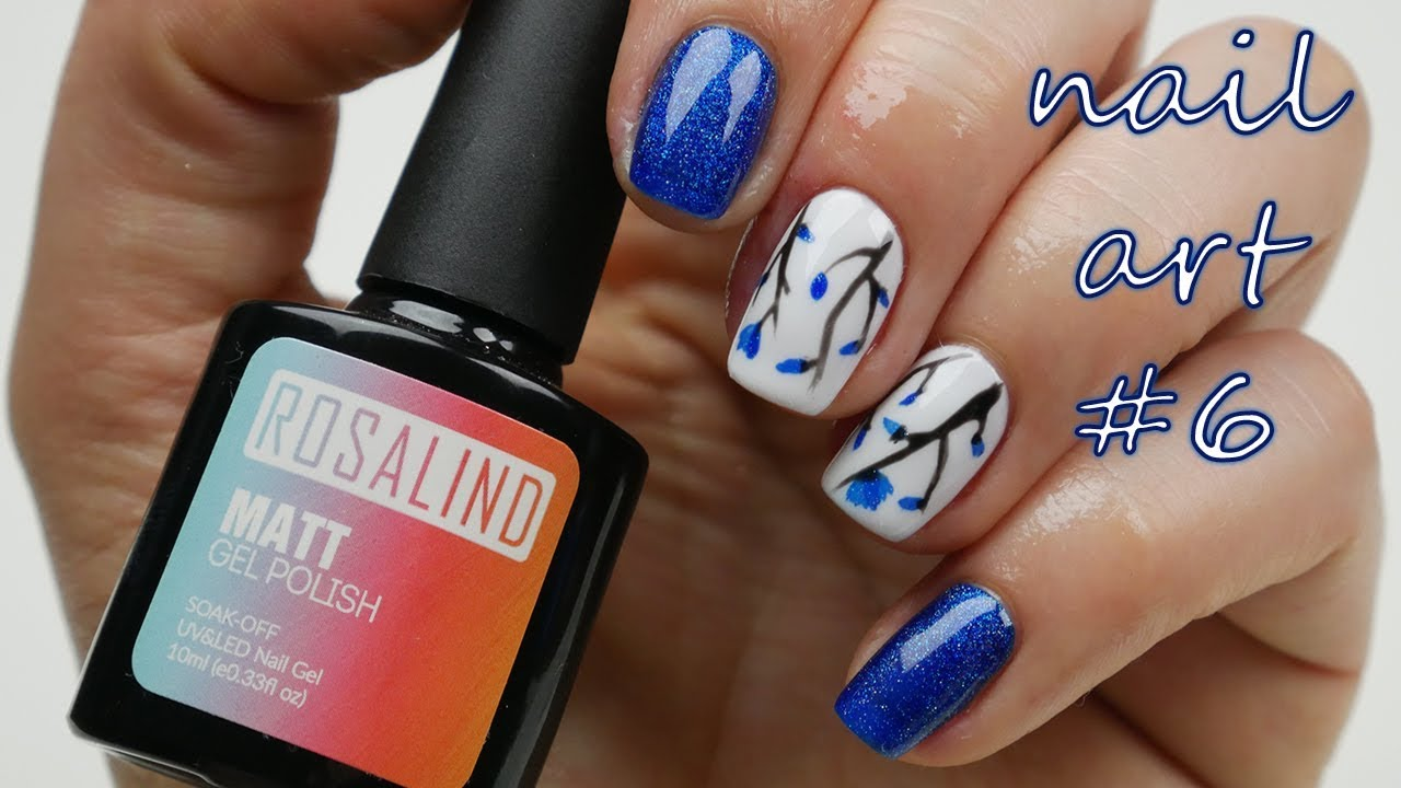 Nail Art 6 Jarni Kvetinove Nehty Flower Nails Youtube
