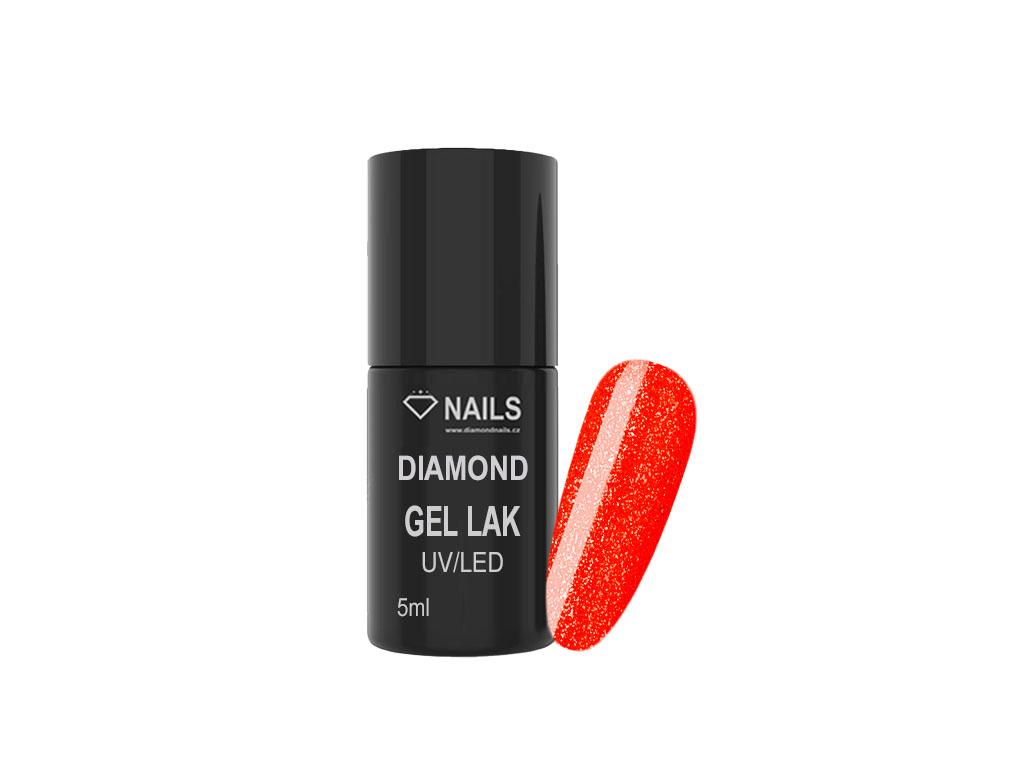 Diamond Gel Lak 030 5ml Neonove Oranzova Trpytiva