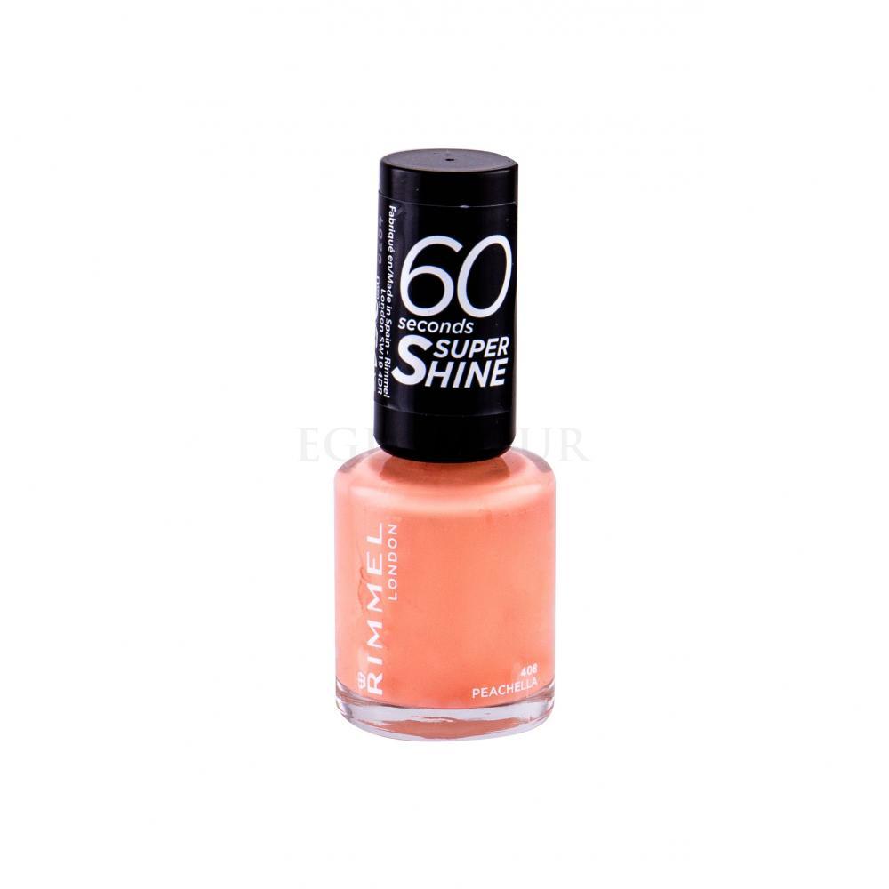 Rimmel London 60 Seconds By Rita Ora Lakier Do Paznokci Dla Kobiet 8 Ml Odcien 408 Peachella Perfumeria Internetowa E Glamour Pl