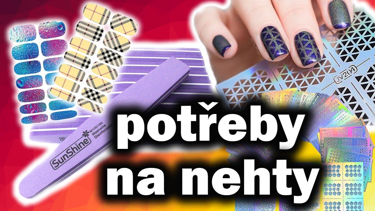 Potreby Na Nehty Nalepky Vodolepky A Brusne Bloky Unboxing Cz Youtube