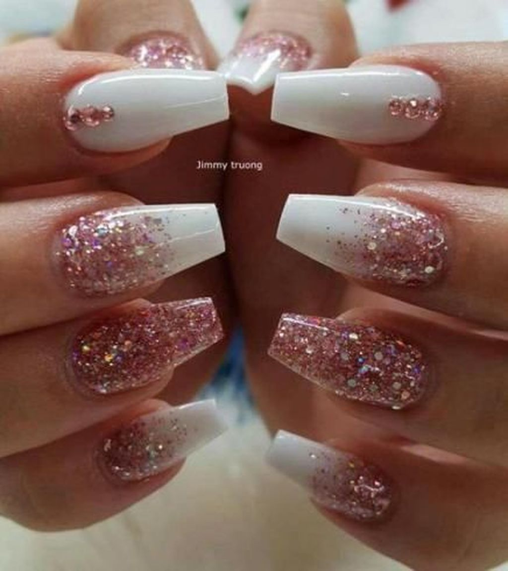 42 Fashionable Pink And White Nails Designs Ideas You Wish To Try Ruzove Nehty Pekne Nehty A Nehet