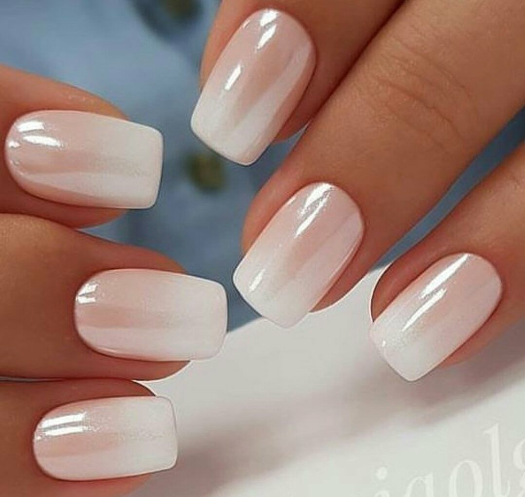 Pin By Kristyna Singer On Nails White Chrome Nails Ambre Nails Pearl Nails