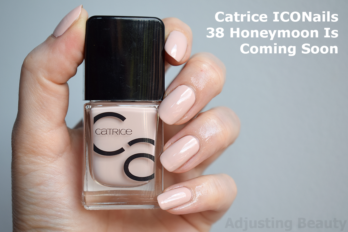 Review Catrice Iconails Gel Lacquer 10 Rosywood Hills 38 Honeymoon Is Coming Soon Adjusting Beauty
