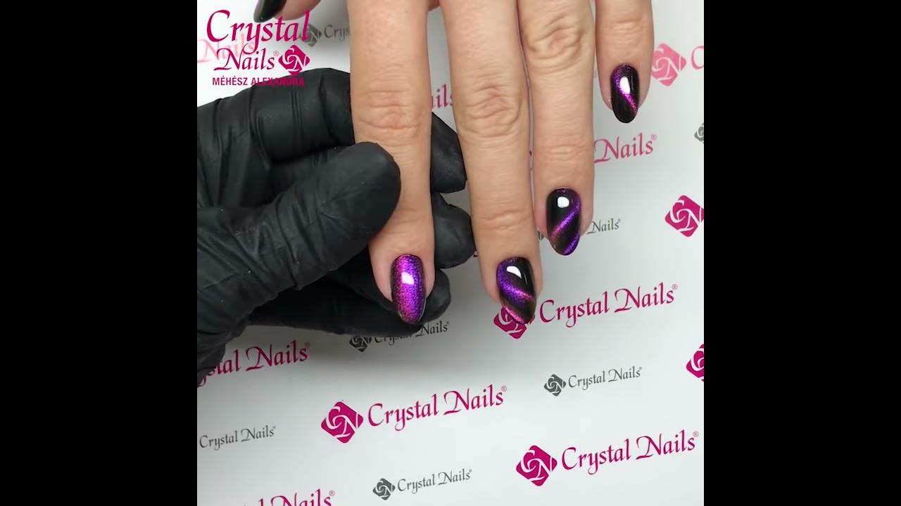 Crystal Nails Tiger Eye Infinity Crystalac 2 3 Youtube