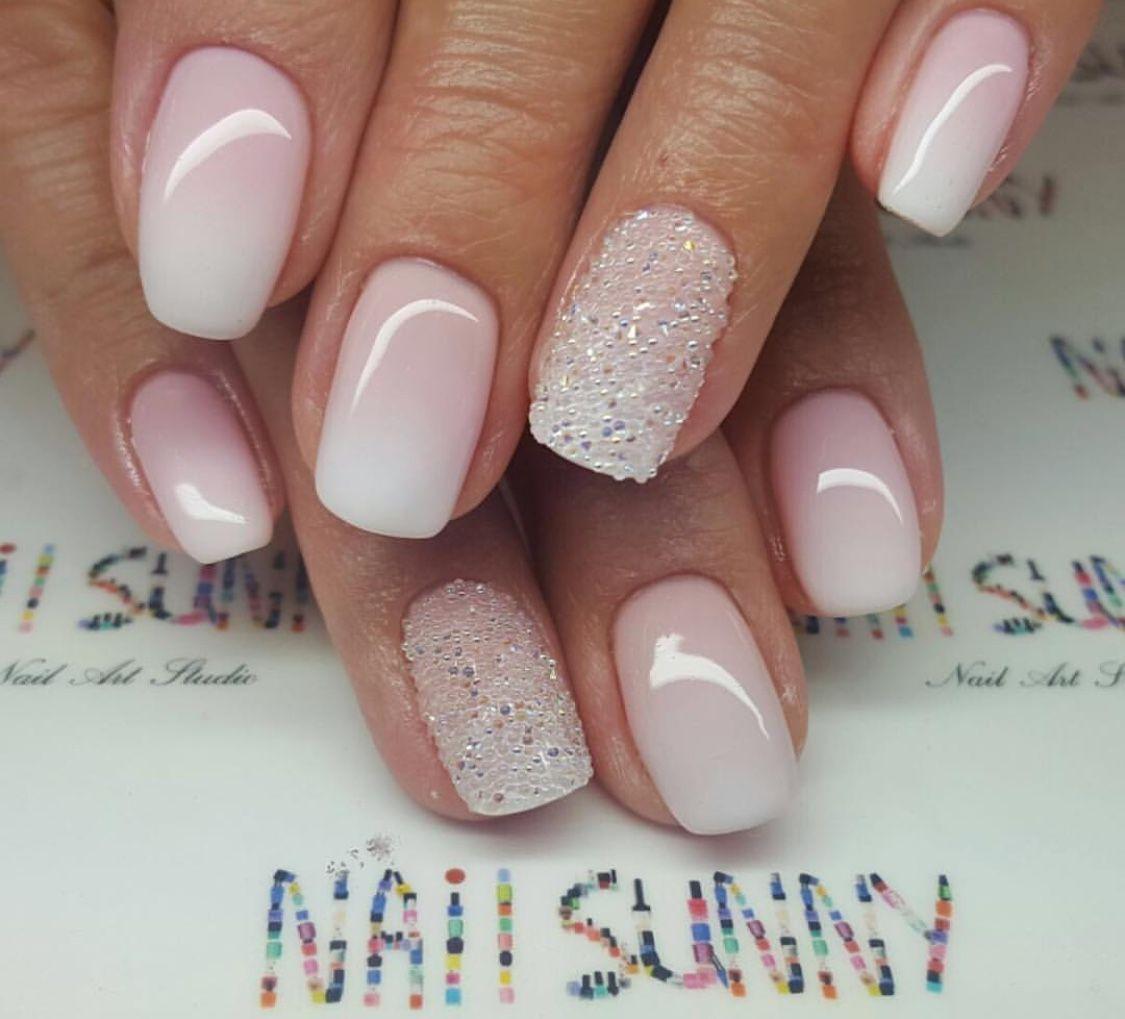 Pin By Janina No On Nails Inspiracion French Manicure Acrylic Nails Bridal Nails Sns Nails Designs