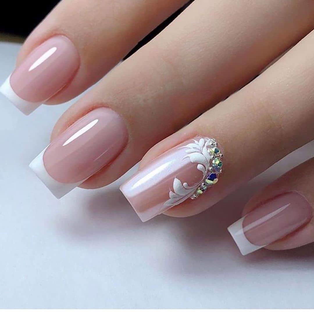 Nail Art Designs In 2020 Bridal Nail Art Elegant Nails Stylish Nails