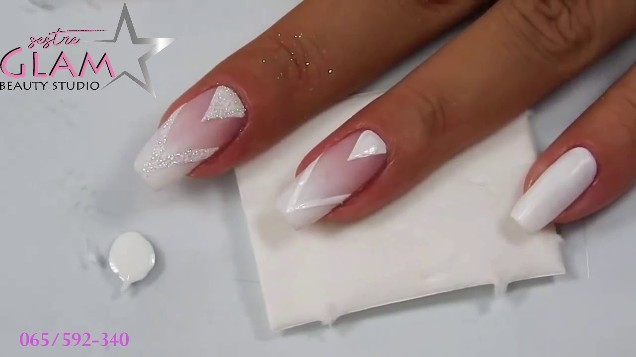 Ombre Nokti Nail Art By Sestre Glam Youtube
