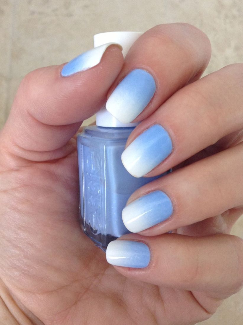 90 Best Ideas About Ombre Nails Art Design Modre Nehty Gelove Nehty Ombre Nehty