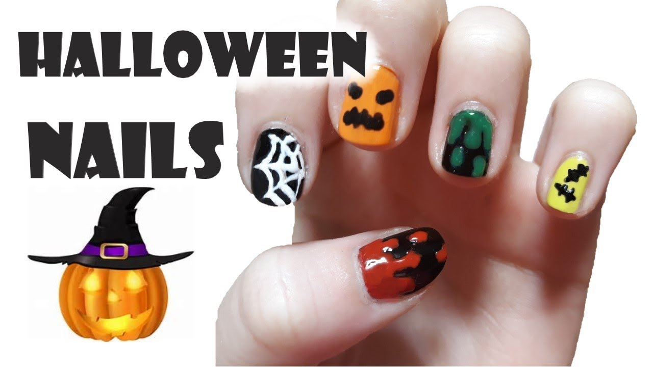 Diy Halloweenske Nehty Halloween Nails Marky Youtube