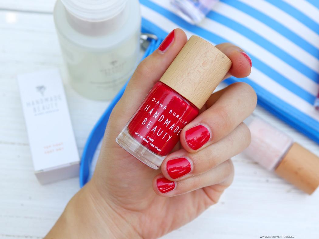 Handmade Beauty Laky Na Nehty Cherry Apple Guava Top Coat Fast Dry A Odlakovac