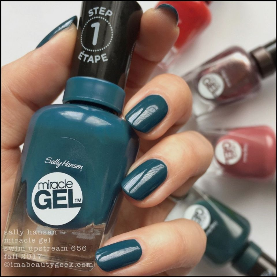 Sally Hansen Miracle Gel Swatches Fall 2017 Morocco Manicure Paznokcie Lakier