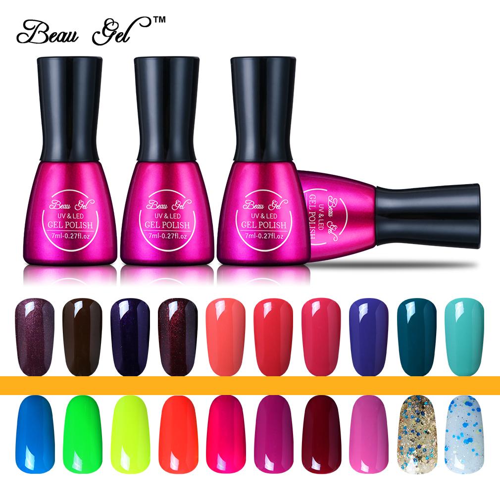 Beau Gel Uv Color Nail Gel Polish Gorgeous 241colors 7ml Long Lasting Soak Off Varnish Cheap Manicure Gel Lak For Nail Gelpolish Gel Lak Color Nail Gelnail Gel Aliexpress