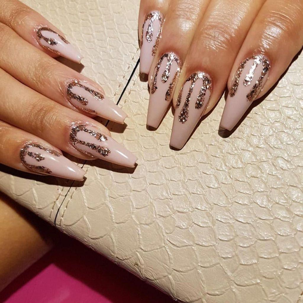 47 Gorgeous Rose Gold Nail Design Summer For Pretty Brides Gelove Nehty Design Nehtu Nehty