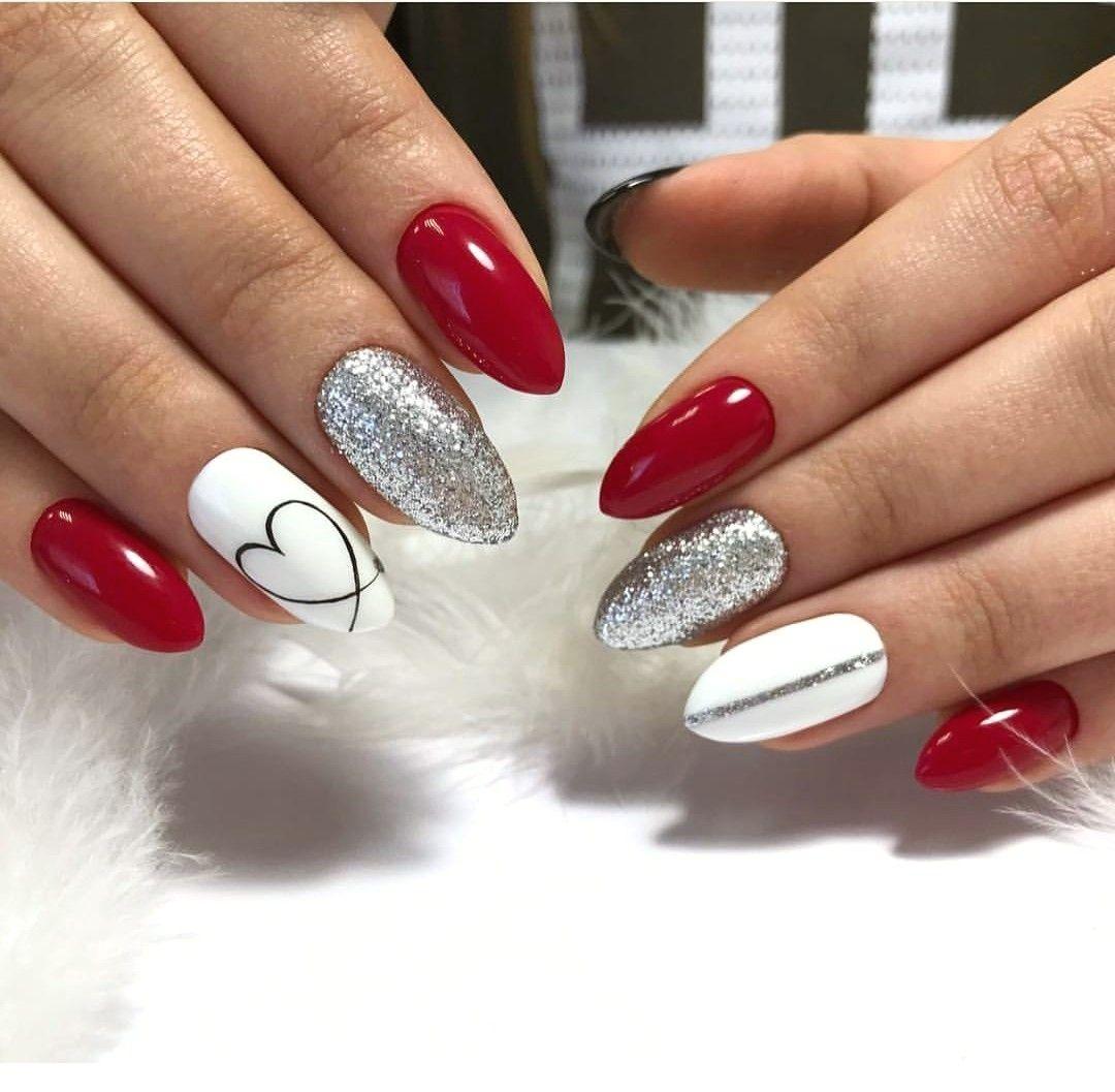 100 Nail Art Ideas That You Will Love Ladystyle Cervene Nehty Gelove Nehty Design Nehtu