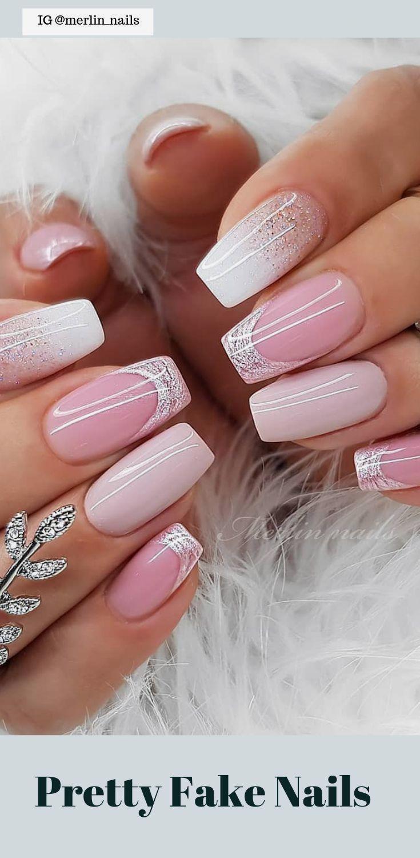 50 Pretty Fake Nails Easy 2019 Nails Easy Fake Nails Pretty In 2020 Gelove Nehty Ombre Nehty Design Nehtu