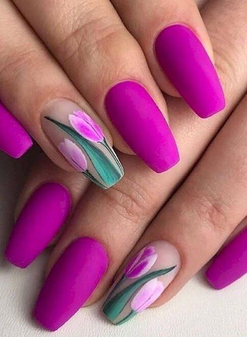 40 Sweet Spring Nails Art Design To Try Now Nehty Barvy Vzory