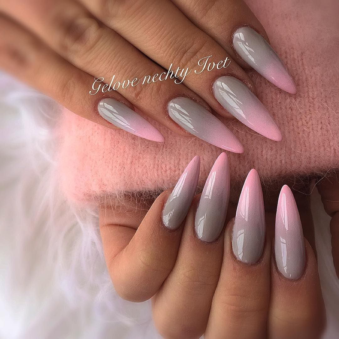 Pinterest Pink23x Dlhe Nechty Ombre Nechty Nechtovy Dizajn