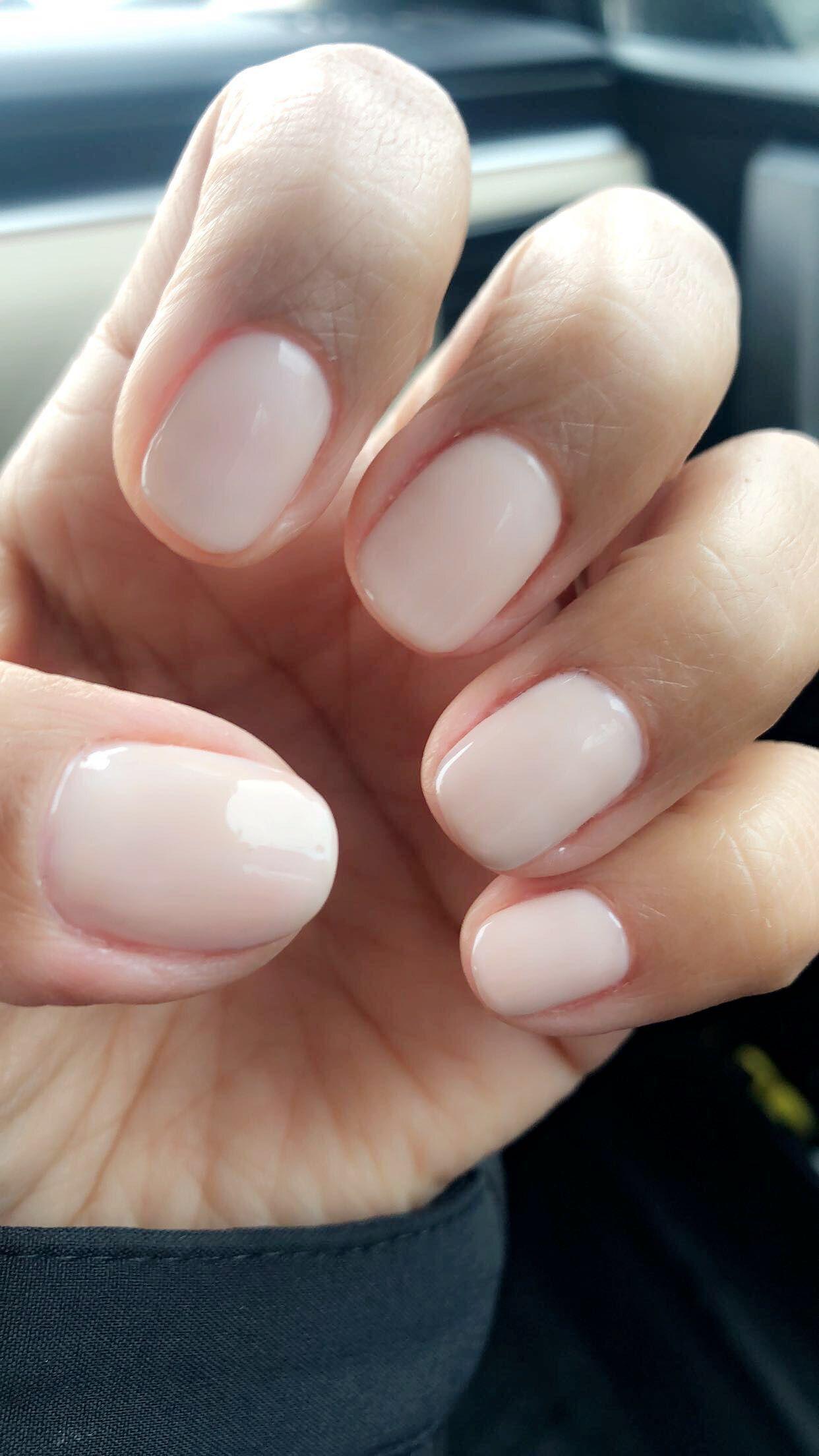 Natural Nails Opi Gel Polish Funny Bunny Chic Nails Nail Shapes Squoval Opi Gel Polish